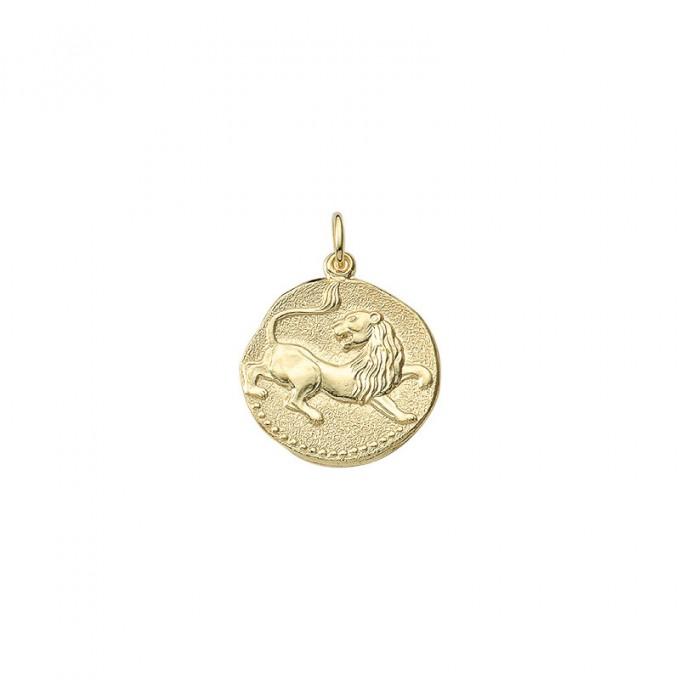 Løven guld vedhæng smykke med stjernetegn til salg - Billige stjernetegns smykker