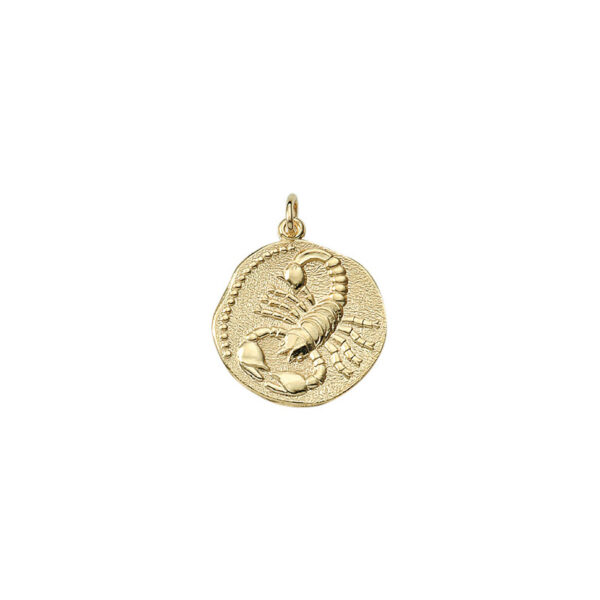 Skorpionen guld vedhæng smykke med stjernetegn til salg - Billige stjernetegns smykker