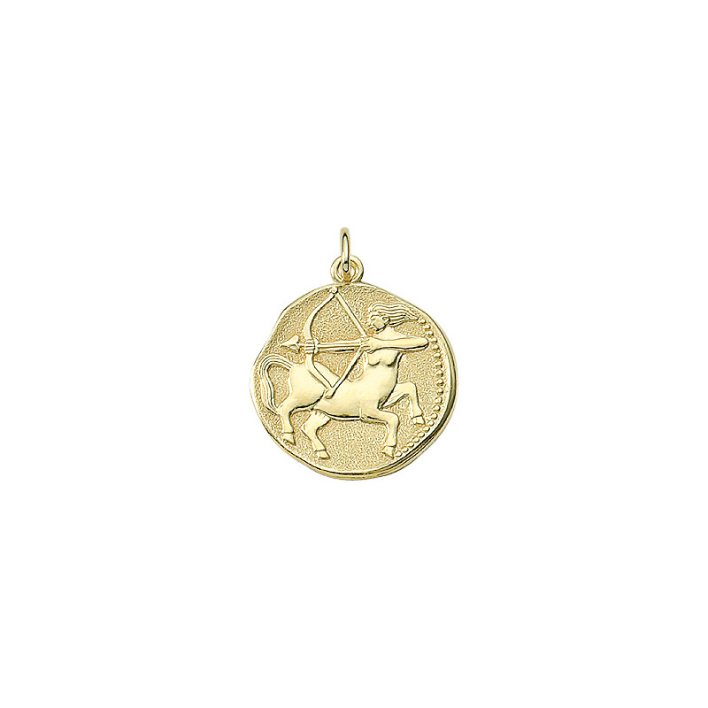 Skytten guld vedhæng smykke med stjernetegn til salg - Billige stjernetegns smykker