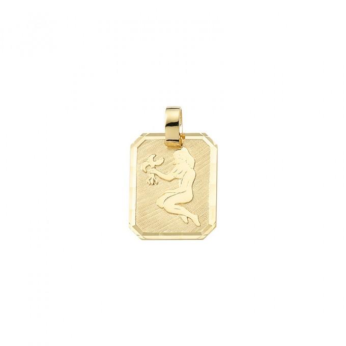 Smykke til Jomfruens stjernetegn. Guld vedhæng m. jomfru tegn. billig stjernetegn smykke til salg