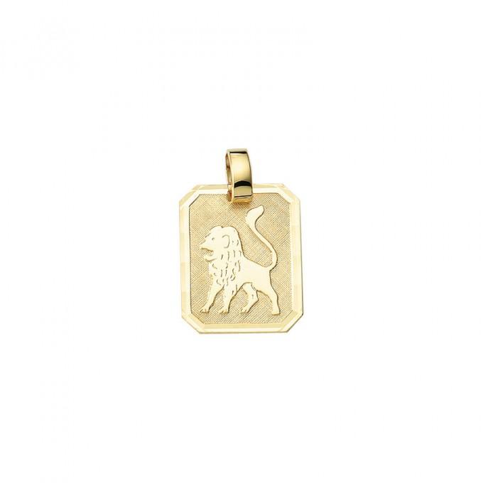 Smykke til Løvens stjernetegn. Guld vedhæng m. løve tegn. billig stjernetegn smykke til salg