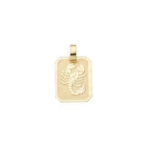Smykke til Skorpionens stjernetegn. Guld vedhæng m. skorpion tegn. billig stjernetegn smykke til salg