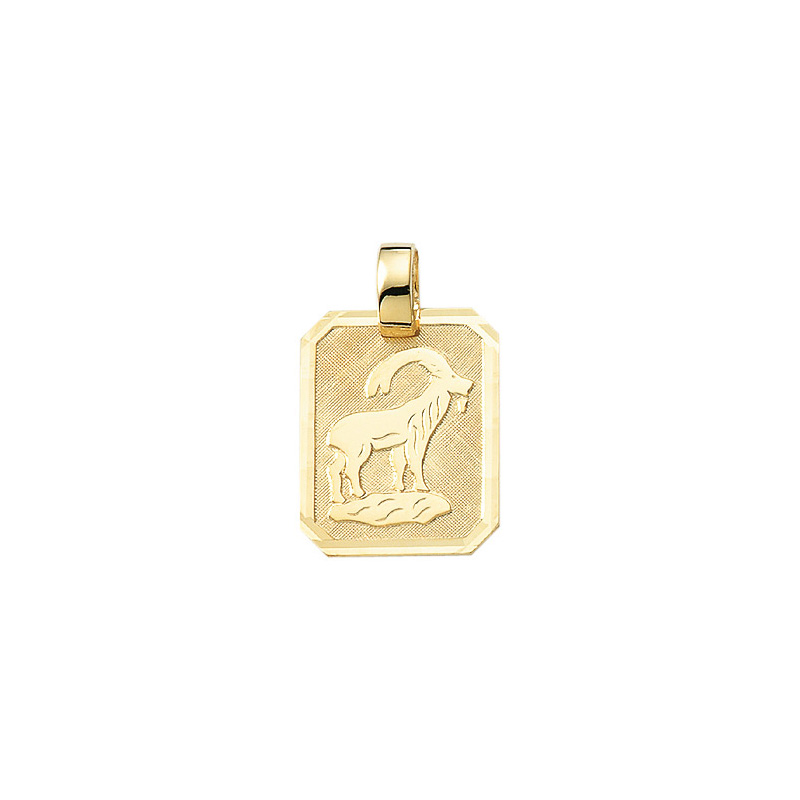 Smykke til Stenbukkens stjernetegn. Guld vedhæng m. Stenbuk tegn. billig stjernetegn smykke til salg