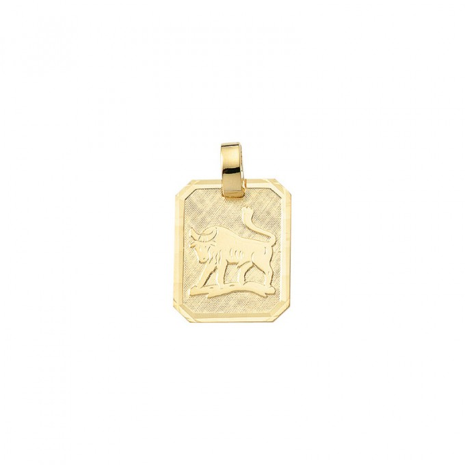 Smykke til Tyrens stjernetegn. Guld vedhæng m. tyr tegn. billig stjernetegn smykke til salg