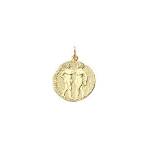 Tvillingen guld vedhæng smykke med stjernetegn til salg - Billige stjernetegns smykker