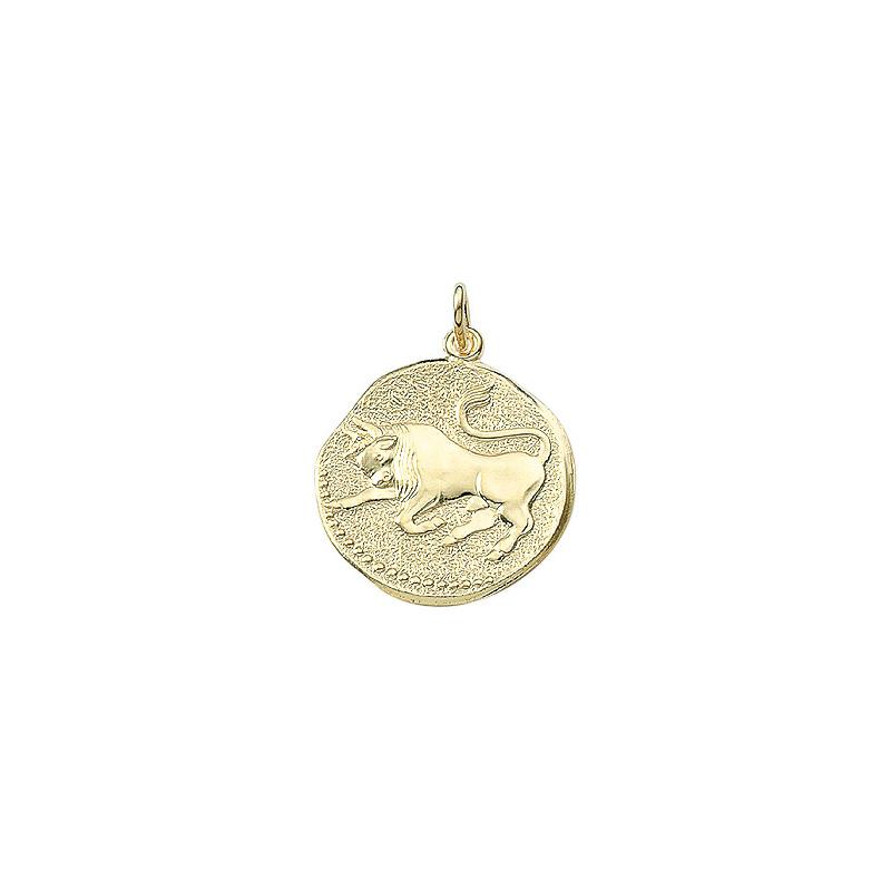 Tyren guld vedhæng smykke med stjernetegn til salg - Billige stjernetegns smykker