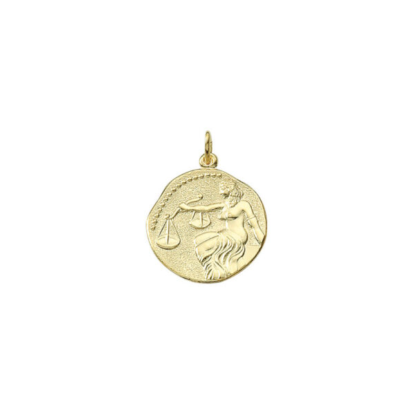 Vægten guld vedhæng smykke med stjernetegn til salg - Billige stjernetegns smykker
