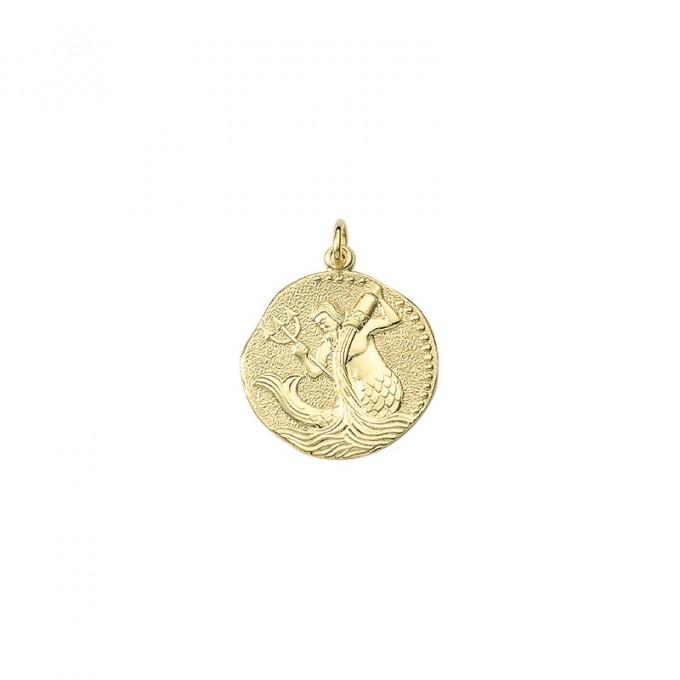 Vandmanden guld vedhæng smykke med stjernetegn til salg - Billige stjernetegns smykker