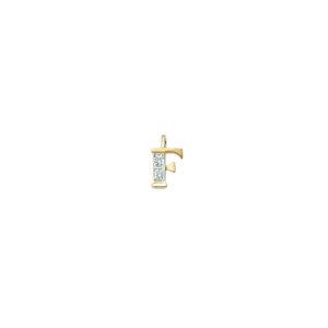 224-006 F Guld Vedhæng bogstav brillanter 14 karat - Køb bogstav halskæde F i guld billigt