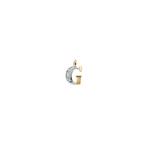224-007 G Guld Vedhæng bogstav brillanter 14 karat - Køb bogstav halskæde G i guld billigt