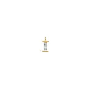 224-009 I Guld Vedhæng bogstav brillanter 14 karat - Køb bogstav halskæde I i guld billigt