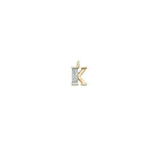 224-011 K Guld Vedhæng bogstav brillanter 14 karat - Køb bogstav halskæde K i guld billigt