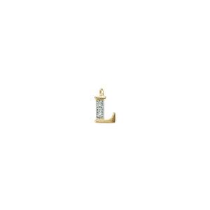 224-012 L Guld Vedhæng bogstav brillanter 14 karat - Køb bogstav halskæde L i guld billigt