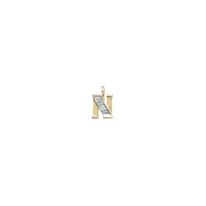 224-014 N Guld Vedhæng bogstav brillanter 14 karat - Køb bogstav halskæde N i guld billigt