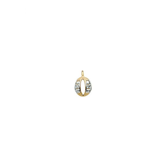 224-015 O Guld Vedhæng bogstav brillanter 14 karat - Køb bogstav halskæde O i guld billigt