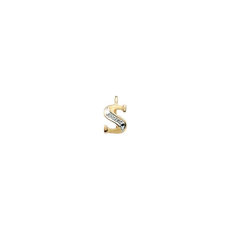 224-019 S Guld Vedhæng bogstav brillanter 14 karat - Køb bogstav halskæde S i guld billigt