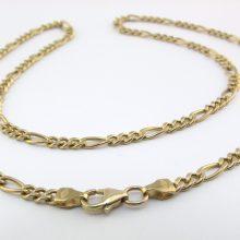 45cm figaro guld halskæde til mænd og kvinder. Brugt figaro kæde til salg