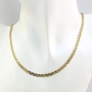 50 cm design guld halskæde i kraftig udførsel