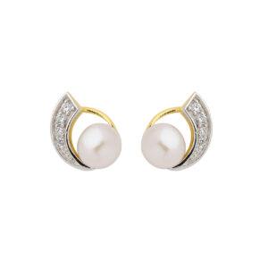 Elegante perle ørerstikkere i guld