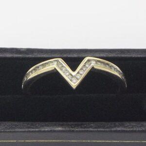 o25 ct diamantring til salg. Brugt brillant damering i 9 karat guld sælges (7)
