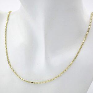 Eksklusiv guld halskæde i 8 karat. Flot guldkæde