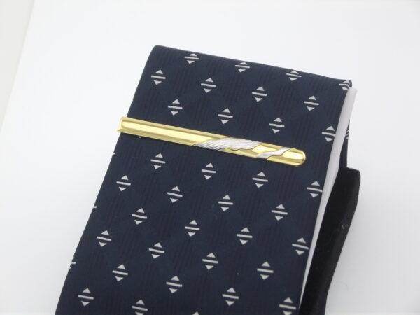 Slipseklemme guld 8 karat massiv slipsenål