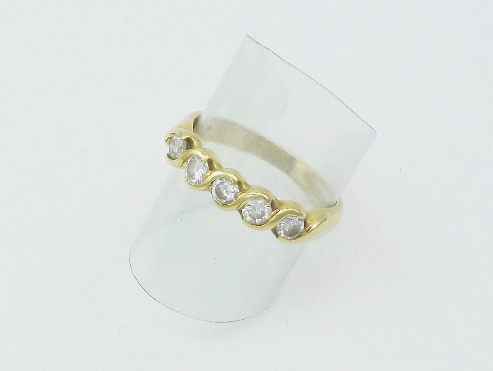 Diamantring 0.25ct VVS River Brugt brillant guldring 18 karat billigt til salg