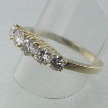 Diamantring 0.85 ct - Fantastisk brugt diamantring billigt til salg