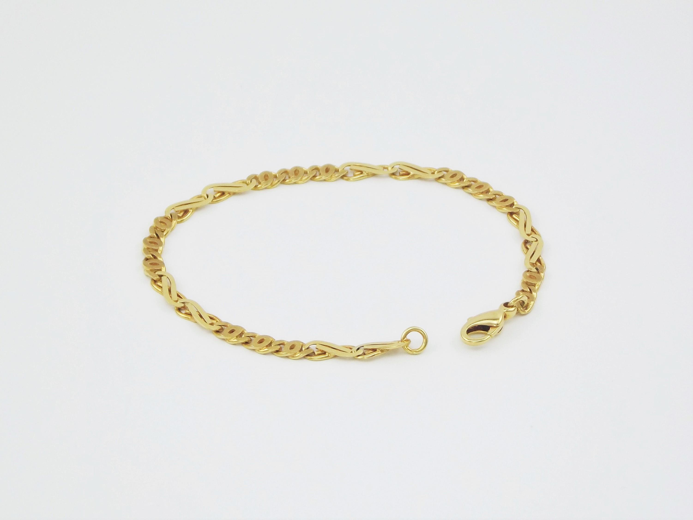 Luksus guld armbånd 14 karat UNISEX. Billige guld armlænker til mænd og brugte guldarmbånd til salg. armbånd herresmykker 14 karat UNISEX armbånd.