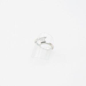 Moderne Diamantring hvidguld Brugt brillant guldring til salg