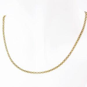 14 karat guld halskæde - fint vævet dobbelt panserkæde