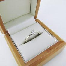 Billig 0.25 ct. Solitaire ring hvidguld 9 karat til salg. Solitaire Guld ringe med diamanter på tilbud. solitaire ring i guld med diamant sælges billigt