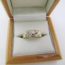 Diamantring eksklusiv udført 0.25 ct -14 karat guld, brugt til salg. billig guldring 14 karat til salg. 14k guld ringe med diamanter på tilbud