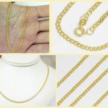 Elegant panser halskæde i 9 karat guld på 45,5 cm. Brugt guldkæde til salg