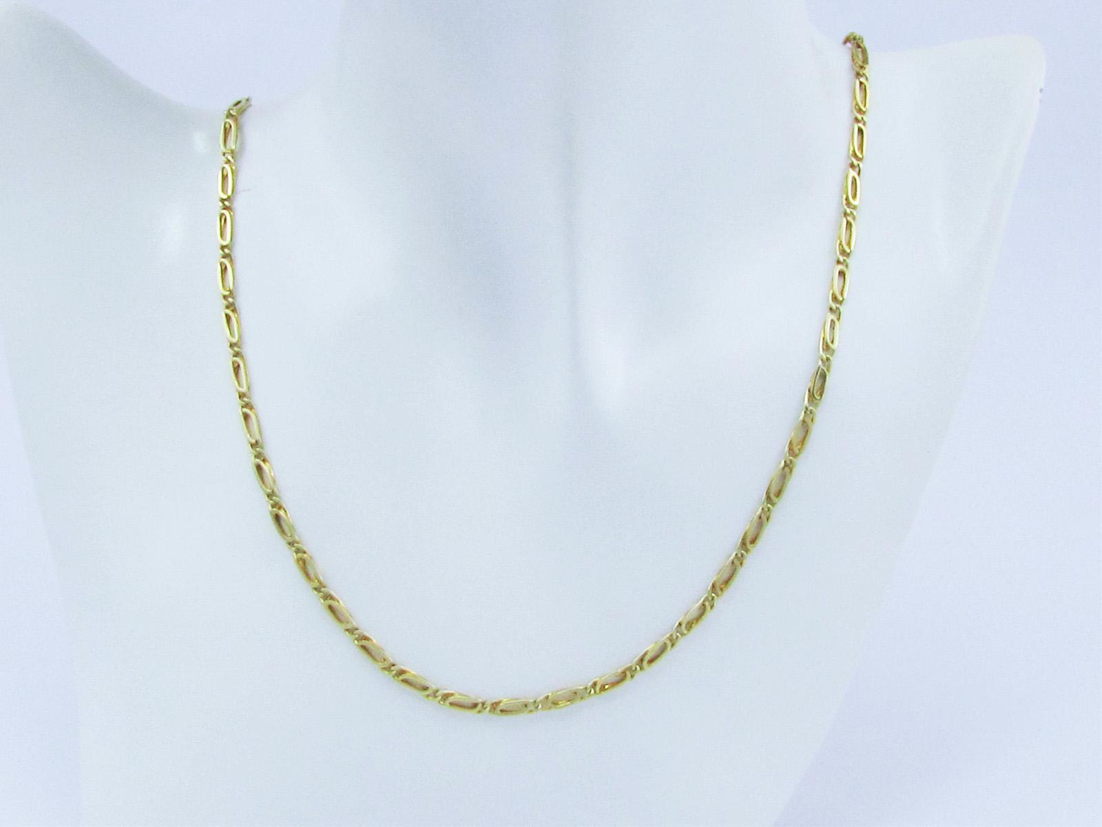 Flot guld halskæde i 14 Karat -54 cm. - Brugt guldkæde til salg - Billige guld halskæder. Brugte guldkæder sælges.