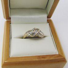 Luksus ring med baguette diamanter & brillanter 0.60 ct. -14 karat guld