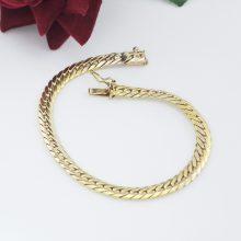 Panserkæde armbånd med reperation, billigt guld armbånd