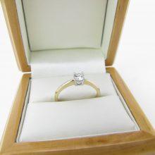 Solitaire ring 0.25 ct - 9 karat guld, brugt til salg. billig guldring 9 karat til salg. 9k guld ringe med diamanter på tilbud. solitaire ring i guld med diamant.