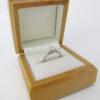 Romantisk 0.33 ct. Solitaire ring i 9 karat hvidguld