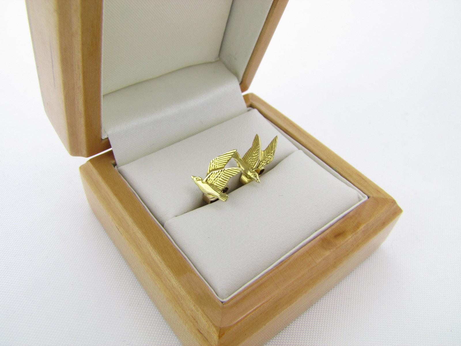 Ørestikker med flyvende fugle i 9 karat guld øreringe med fugl til salg
