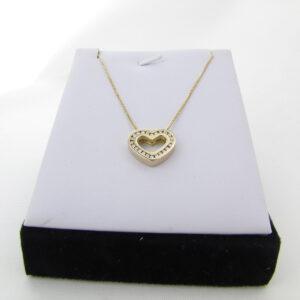 14K Guld hjerte vedhæng med 0,5 ct brillanter