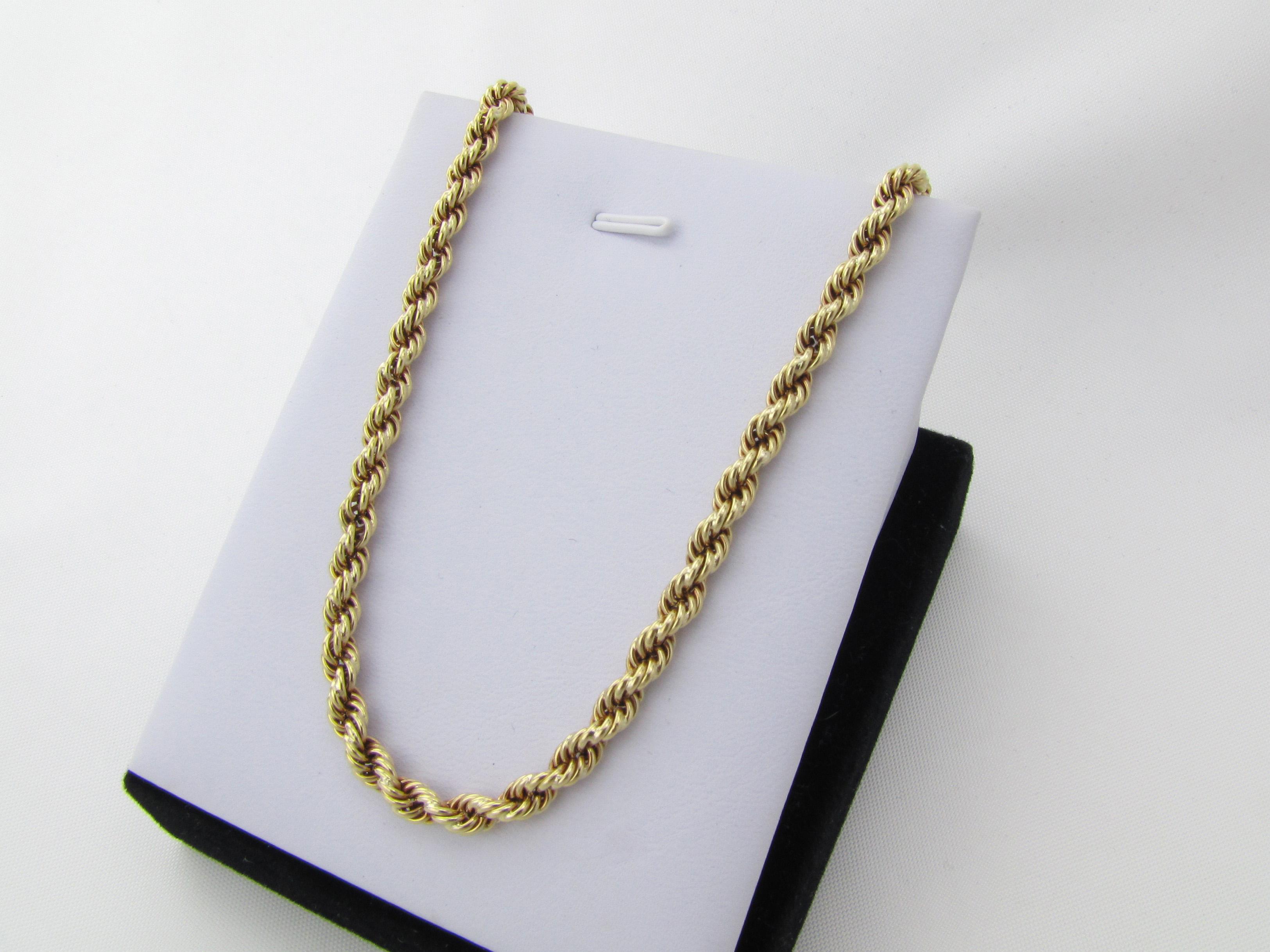 50 cm kraftig bj rn borg guld halsk de i 14 karat brugt til salg. Black Bedroom Furniture Sets. Home Design Ideas
