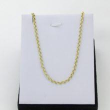 60 cm ærte halskæde i 8 karat guld. Brugte ærtekæde guldkæde.