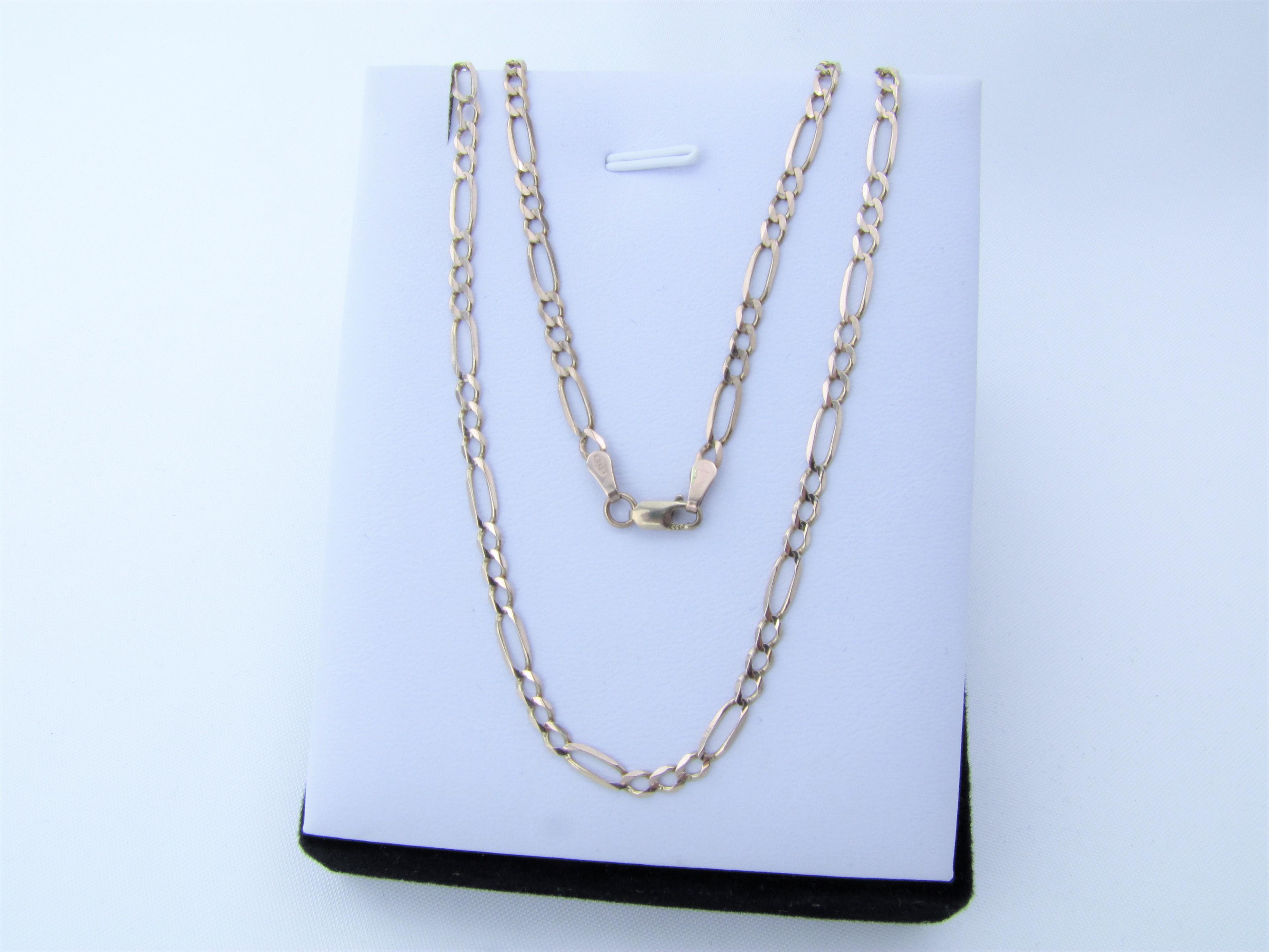 Klassisk Guld halskæde 8 karat Figaro kæde billigt til salg