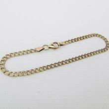 Panserkæde guld armbånd i 8 karat