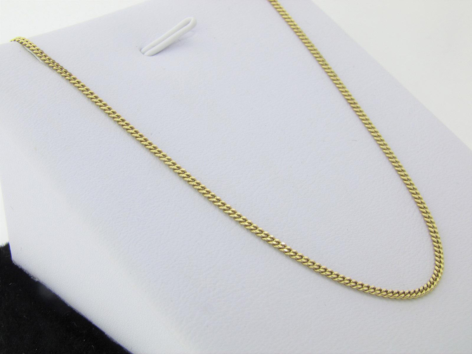 UNISEX - Tæt panser halskæde 8 karat guld 50 cm til mænd og kvinder