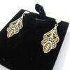 Ørestikker med blade i filigran 9 karat guld øreringe med blad til salg