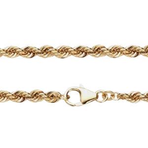 3,8 mm Kordel guld halskæde i 8 karat guld - Bjørn Borg guldkæde.