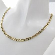 Guldkæde 14 Karat Panser halskæde 64 cm sælges brugt