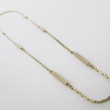 UNISEX tæt facetslebet anker halskæde 70 cm - 8 karat guld